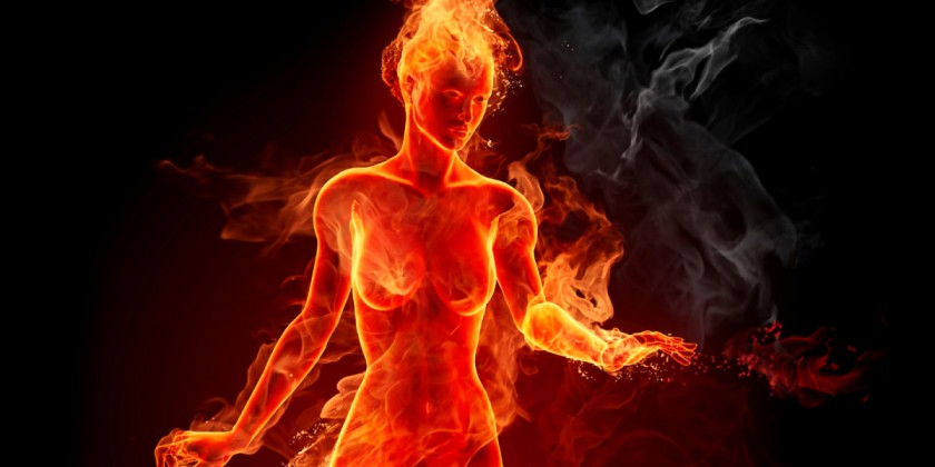 Woman-in-fire