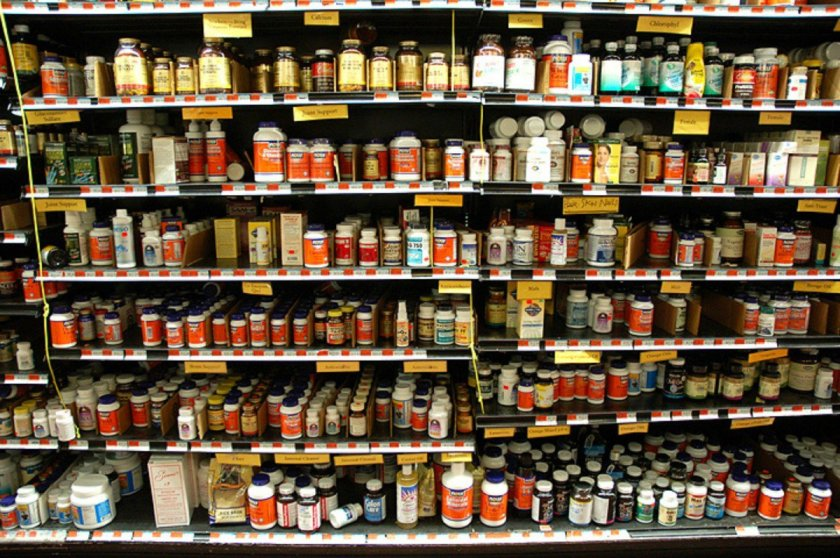 vitamin aisle