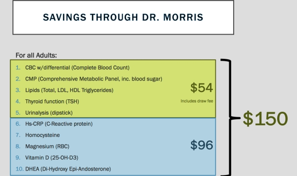 SAVINGS THROUGH DR MORRIS